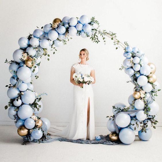 Сватбена украса от балони