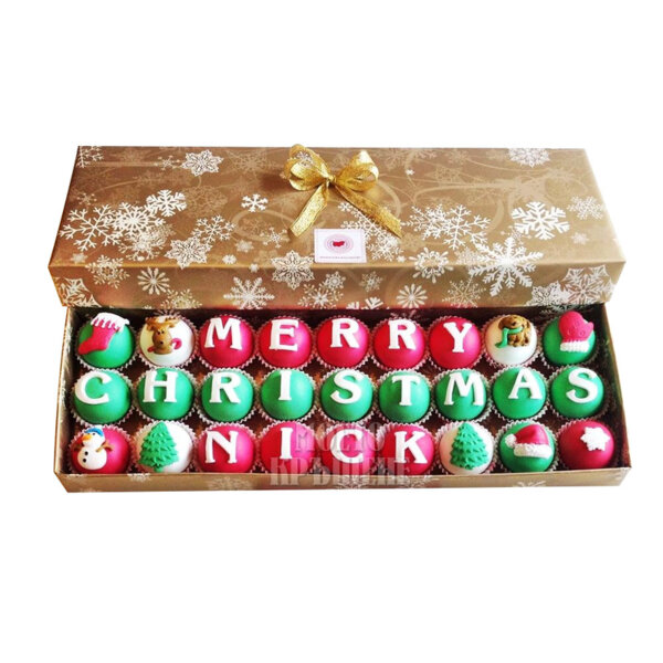 Луксозна кутия Коледни бонбони Merry Christmas