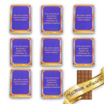 Белгийски шоколад с житейски мисли и пожелания