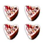 Сурови мини торти сърце