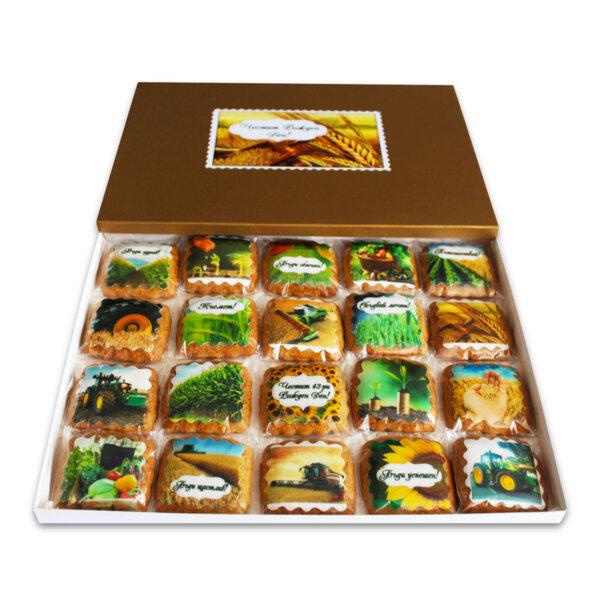 Кутия ръчно моделирани сладки за Фермер / Земеделец