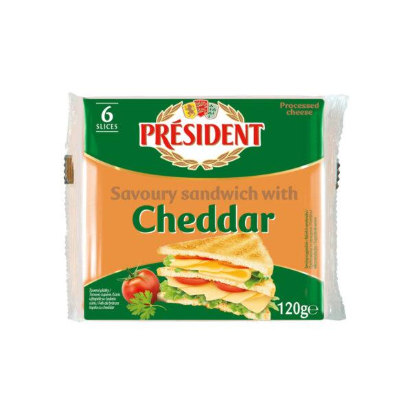 President топено сирене чедър сандвич 6 слайса 40%
