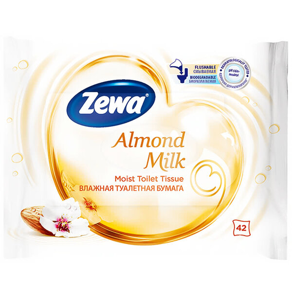 Zewa Almond Milk влажна тоалетна хартия