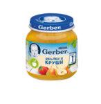 Gerber пюре ябълки и круши, моето първо пюре, бурканче
