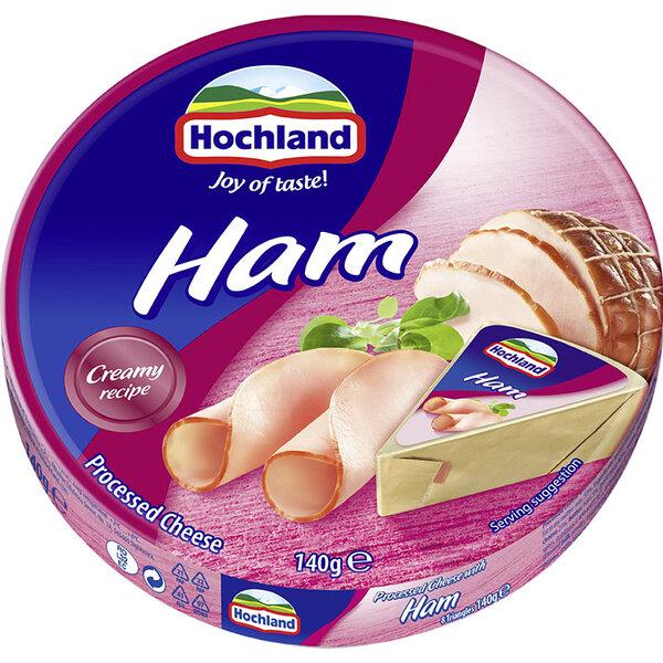Hochland топено сирене с шунка