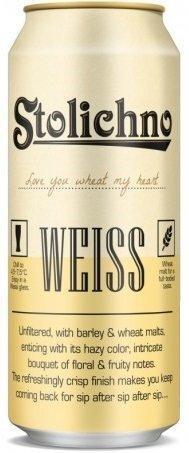 Stolichno Weiss бира, кен