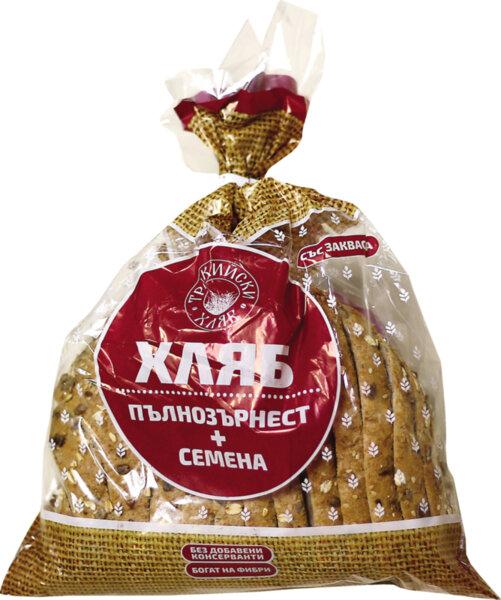 Тракийски хляб пълнозърнест хляб плюс семена