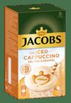 Jacobs Айс капучино солен карамел разтворимо кафе, кутия (8 бр. х 17.8 г)