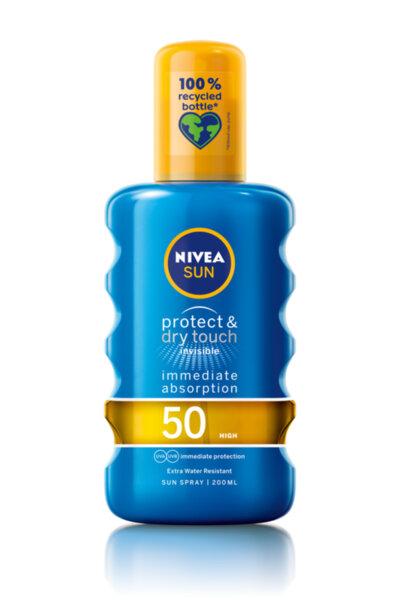 Nivea Sun Protect & Dry Touch слънцезащитен спрей SPF50+