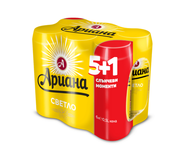Ариана бира, кен, мултипак (6 бр. х 500 мл)