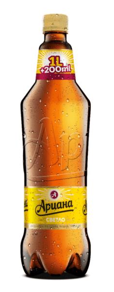Ариана светла бира, PET