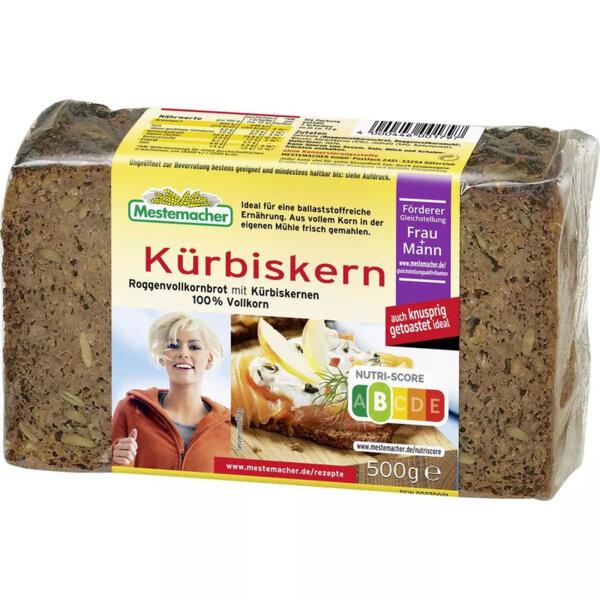 Mestemacher пълнозърнест хляб с тиквени семки