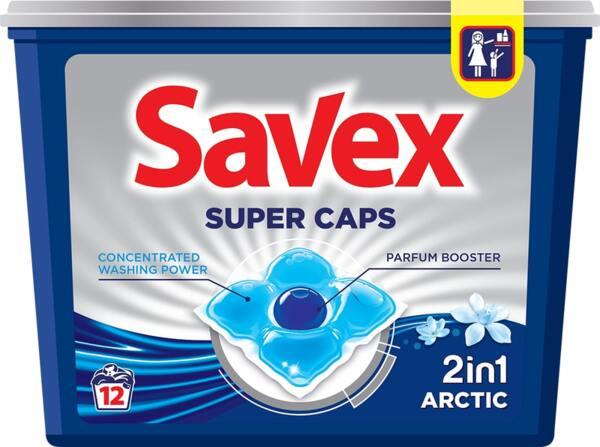 Savex капсули за пране Arctic 2в1 (12 пранета)