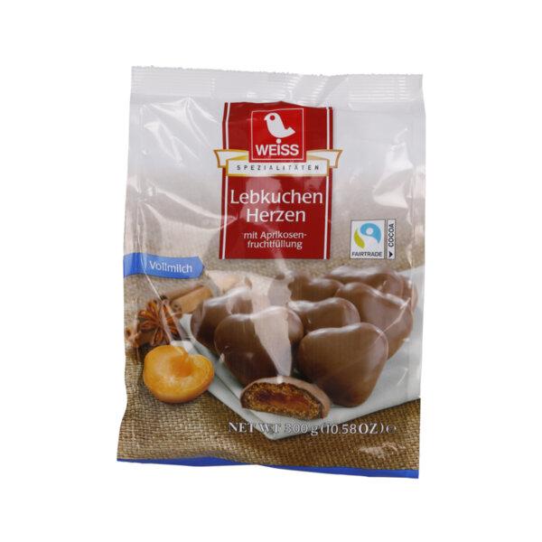 Weiss меденки сърца с кайсиев пълнеж и млечен шоколад