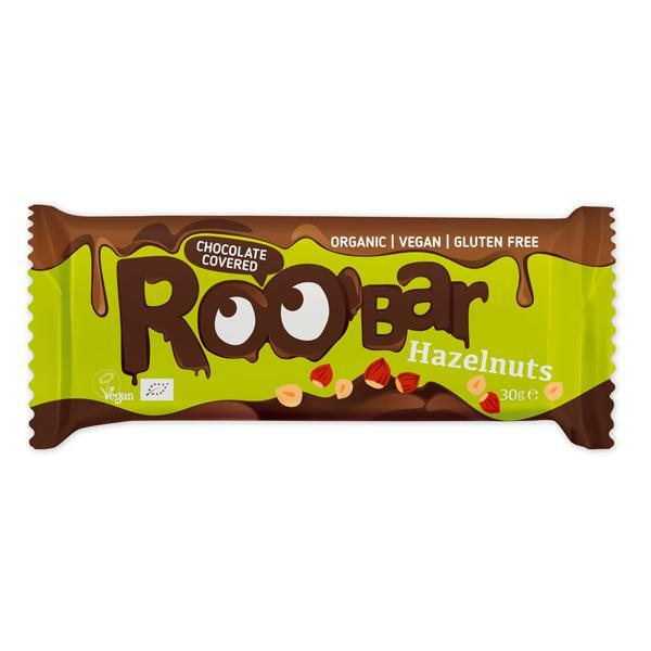 Roobar био лешников бар покрит с шоколад