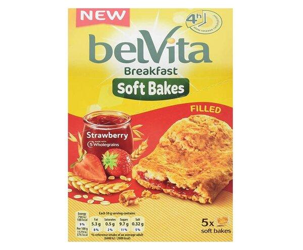 belVita меки бисквити ягода с пълнеж