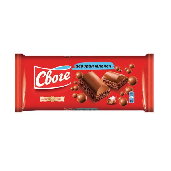 Своге аериран млечен шоколад
