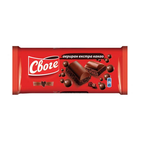 Своге аериран шоколад с екстра какао