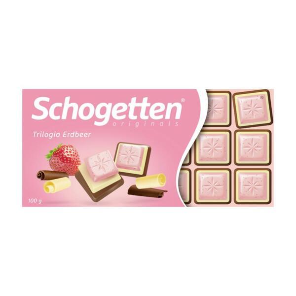 Schogetten шоколад трилогия с ягоди