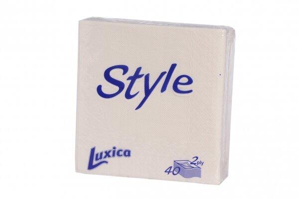 Luxica Style бели салфетки, 2 пласта (40 бр.)