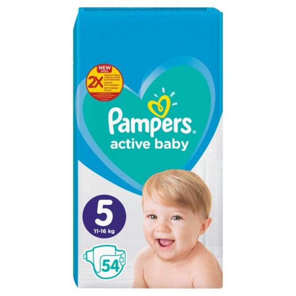 Pampers Active Baby пелени Junior 5 (11 кг - 16 кг, 54 бр.)