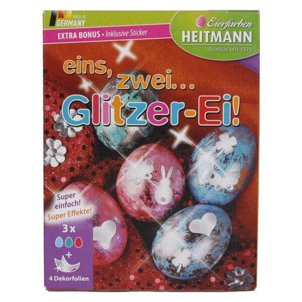 Heitmann боя за великденски яйца и 48 стикера, 3 цвята х 5 мл