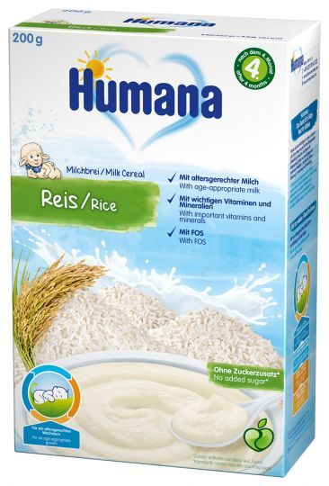 Humana млечна каша с ориз (4+ месеца)