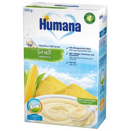 Humana млечна каша царевичен грис (4+ месеца)