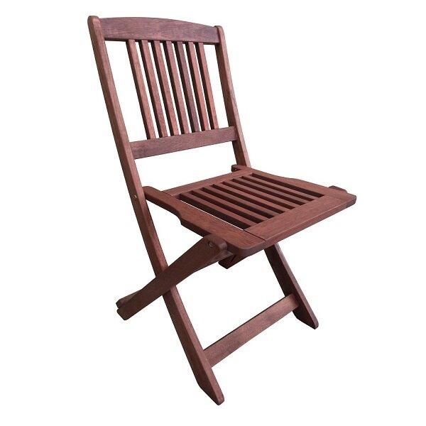 Muhler сгъваем стол от дърво Meranti (47x56x84 см)