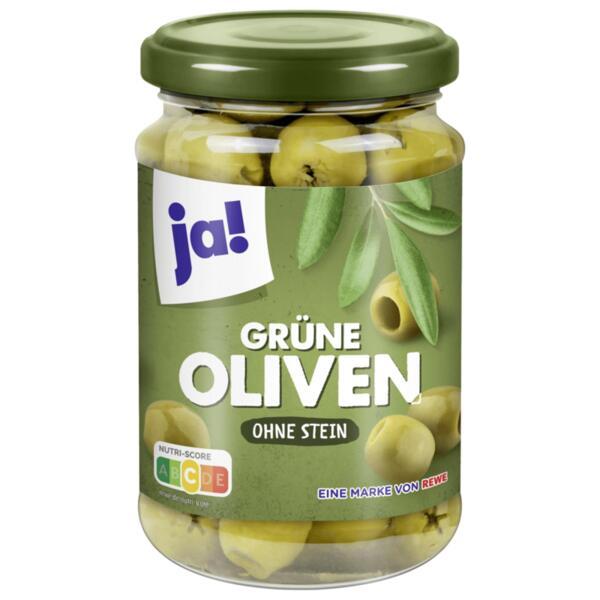 JA! зелени маслини без костилки
