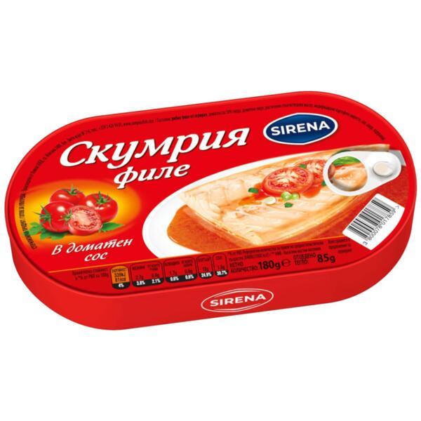 Sirena филе от скумрия в доматен сос (180 кг)