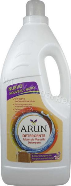 Arun Detergente Jabon de Marsella Течен Перилен Препарат за Бели и Цветни Дрехи с Марсилски Сапун 3.900л./60 Пранета Испанско Качество