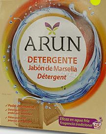 Arun Detergente Jabon de MarsellaПрахообразен Перилен Препарат за Бели и Цветни Дрехи с Марсилски Сапун 3.150 кг ./45Пранета Испанско Качество