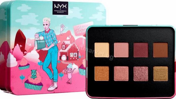 NYX Whipped Wonderland Shadow Palette Палитра Сенки за Очи 8 Цвята Английско Качество