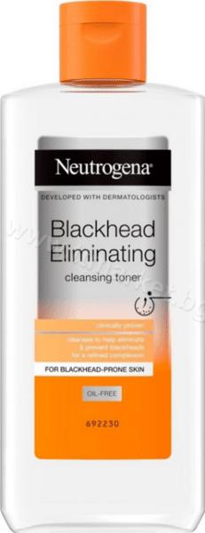Neutrogena Blackhead Eliminating Cleansing Toner Почистващ Тоник за Лице за Премахване на Черни Точки 200 мл. Английско Качество