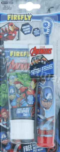 Firefly Marvel AvengersДетски Комплект от Електрическа Четка за Зъби 1 бр. и Паста за Зъби 75 мл. Марвел Отмъстителите Английско Качество