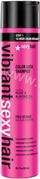 Sexy Hair Vibrant Sexy Hair Color Lock Shampoo Шампоан за Боядисана Коса с Роза и Масло от Бадем Без Сулфати 300 мл. Американско Качество
