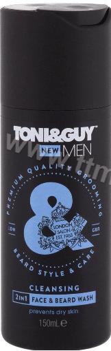 Toni & Guy Men Cleansing Face and Beard Wash Мъжки Измиващ Гел за Брада и Лице 150мл. Английско Качество
