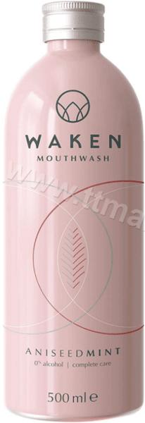Waken Mouthwash Aniseed Mint Вода за Уста с Мента Анасон и Карамфил Без Алкохол 500 мл. Английско Качество