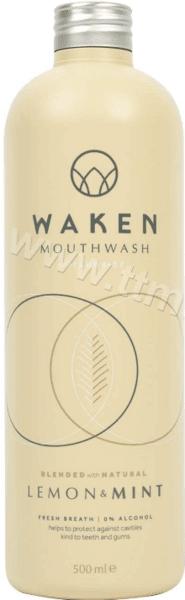 Waken Mouthwash Lemon Mint Вода за Уста с Мента и Лимон Без Алкохол 500 мл. Английско Качество