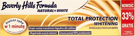 Beverly Hills Formula Total Protection WhiteningПредпазваща Избелваща Паста за Зъби 100 мл. Английско Качество
