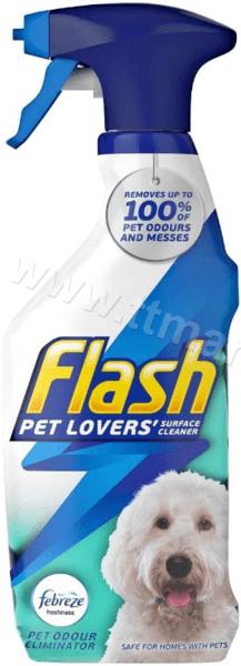 Flash Pet Lovers Febreze Pet Odour Eliminator Универсален Почистващ Препарат Против Миризми от Домашни Любимци 750 мл. Английско Качество