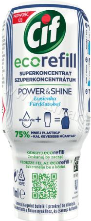 Cif Eco Refill Power and Shine Супер Концентриран Еко Пълнител Препарат за Баня 70 мл. Полско Качество