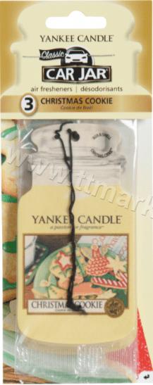 Yankee Candle Car Jar Air Freshener Christmas Cookie Ароматизатор за Кола с Аромат на Коледна Бисквитка 1 бр. Английско Качество