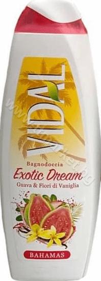 Vidal Bagnodoccia Exotic Dream Guava and Fiori di Vaniglia Bahamas Душ Гел за Тяло с Аромат на Гуава и Ванилия 500 мл. Италианско Качество