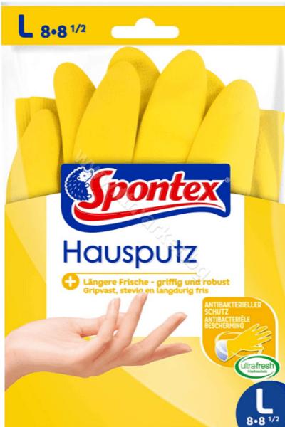 Spontex Milleusi Stop Al Batteri M Антибактериални Универсални Гумени Ръкавици Размер M 1 Чифт Италианско Качество