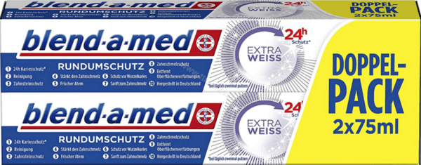 Blend-a-med Extra Weiss Doppel-Pack Избелваща Паста за Зъби 2бр.*75 мл. Немско Качество
