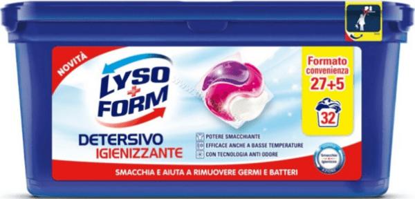 LysoForm Detersivo Igienizzante Антибактериални Капсули за Пране на Бели и Цветни Дрехи 32 бр. Италианско Качество