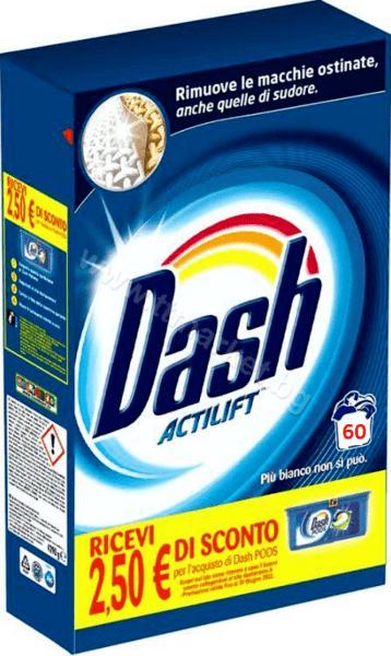 Dash Actilift Прахообразен Препарат за Пране на бели и Цветни Дрехи 3.9кг./ 60 Пранета Италианско Качество