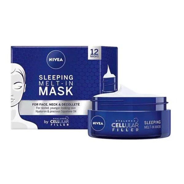 Нощна маска за лице Nivea Sleeping Mask 12 броя - маски 50 мл